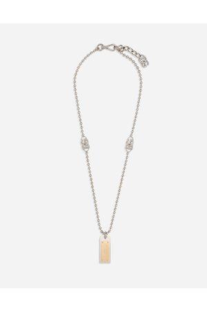 Dolce & Gabbana Halskette mit gravierter logoplakette male onesize