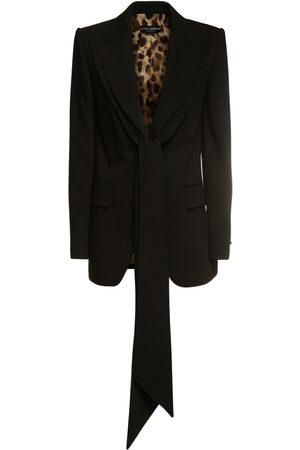 Dolce & Gabbana Damen Blazer & Sakkos - Tailliertes Jackett Aus Stretch-wolle