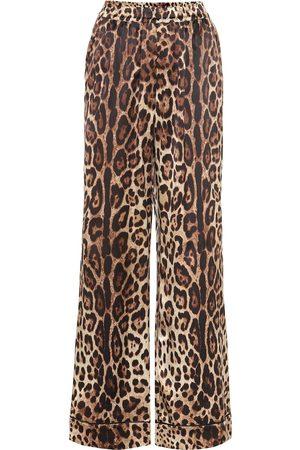 Dolce & Gabbana Bedruckte Hose aus Seide