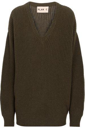 Plan C Damen Strickpullover - Pullover aus Kaschmir und Wolle