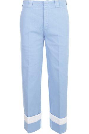 N21 Damen Cropped - Elastic Pants W/Lapel , Damen, Größe: 38 IT