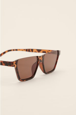 NA-KD Sonnenbrille Open Top - Brown