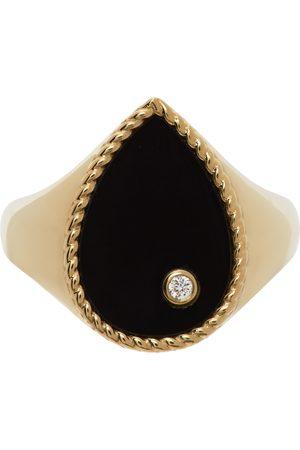YVONNE LÉON Gold Onyx Pear Signet Ring