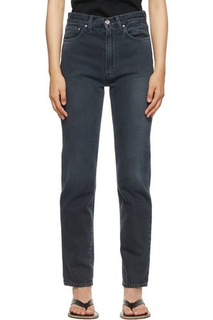 Totême Black Faded Regular Fit Jeans
