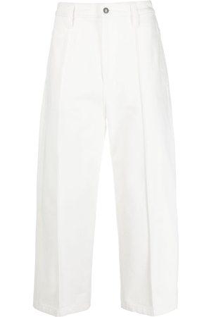 AMI Paris Wide-Leg-Jeans mit Faltendetail