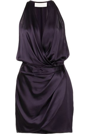 Michelle Mason Damen Freizeitkleider - Neckholder-Minikleid aus Seidensatin