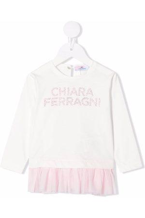 Chiara Ferragni Kids Strickpullover - Pullover mit Logo-Applikation