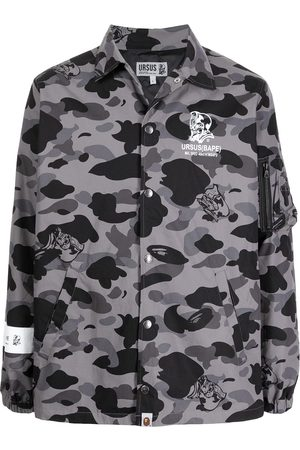 A Bathing Ape Herren Sommerjacken - Hemdjacke mit Camouflage-Print