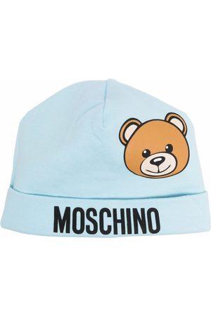 Moschino Kids Beanie mit Teddy-Print