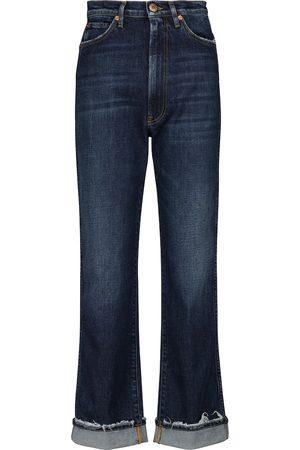 3x1 Damen Straight - High-Rise Jeans Claudia mit geradem Bein