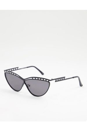 Jeepers Peepers – Cat-Eye-Sonnenbrille in mit Rahmendetail