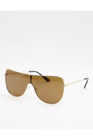Jeepers Peepers – Sonnenbrille in Gold-Goldfarben