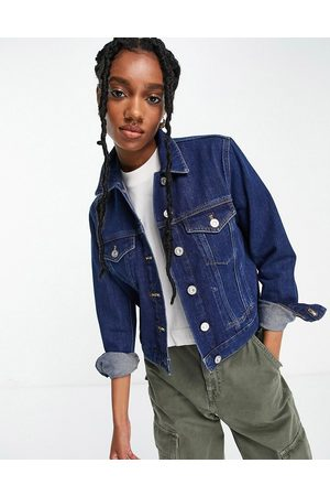 French Connection – Jeansjacke in mittelblauer Waschung