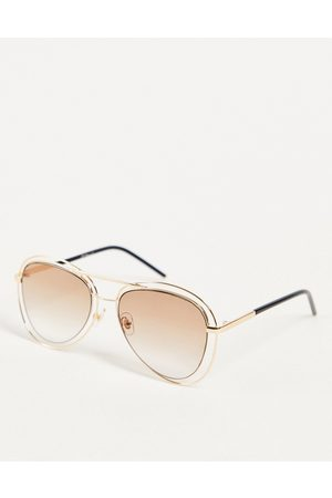 Jeepers Peepers – Pilotensonnenbrille-Goldfarben
