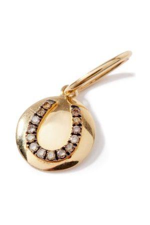 Rosa De La Cruz Horseshoe Diamond & 18kt Charm