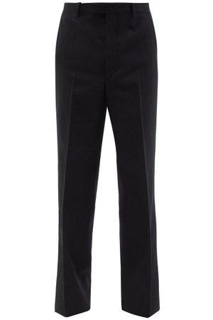 Prada Pinstripe Wool Wide-leg Trousers