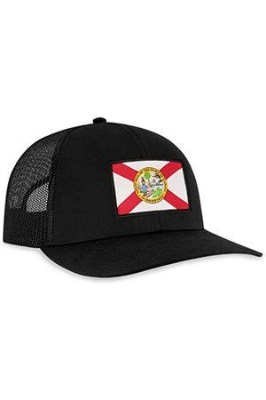 HAKA Trucker-Hüte mit Staatsflagge – Patch-Stil – Baseballkappe aus Netzstoff mit Snapback - - Einheitsgröße