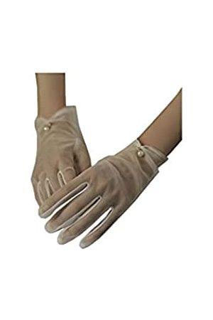 FFYY Kurze Satin-Tüll-Handschuhe für Frauen, Handgelenklänge, Hochzeit, Opernparty