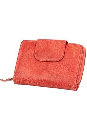 Mika 80112604 - Damengeldbörse aus Echt Leder, Portemonnaie im Hochformat, Geldbeutel mit 9 Visitenkartenfächer, 2 Scheinfächer und doppeltes Münzfach, Brieftasche in, ca. 14