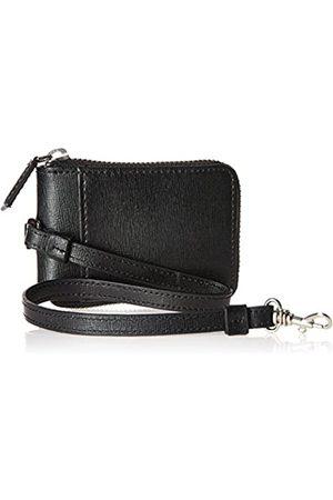 Royce Leather RFID-blockierender Reißverschluss Schlüsseletui Brieftasche aus Saffiano-Leder - RFID-597-BLK-2