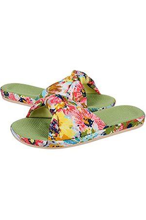 shevalues Damen Sommer Hausschuhe mit Arch Support Leichte Hawaii Beach Slide Pantoffeln Offene Zehe, (lime)