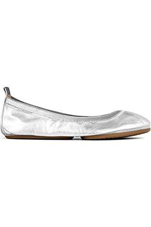 Yosi Samra Samara Damen-Ballerinas, metallisch, faltbar, flach