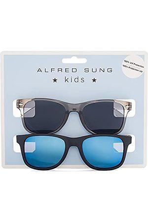 Alfred Sung Kinder-Sonnenbrille, 2 Stück, für Mädchen, UV-Schutz 400, Glitzer