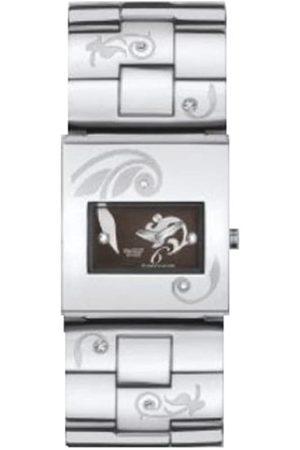 Swatch Damen Uhren - Damen Armbanduhr Square Dark Attitude YUS103G