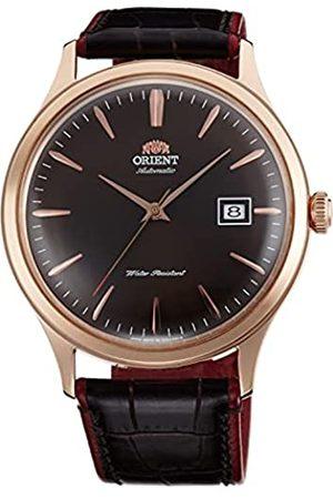Orient Unisex Erwachsene Analog Automatik Uhr mit Leder Armband FAC08001T0