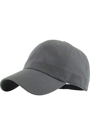 KBETHOS KB-LOW DGY Classic Baumwoll-Papa Hut Einstellbare Plain Cap. Polo Style Low Profile (unstrukturiert) (Classic) Einstellbar