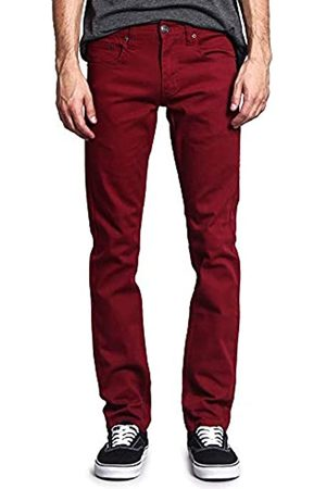VICTORIOUS Herren Skinny Fit Color Stretch Jeans - Violett - 38W / 34L