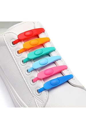 willikiva Elastische Schnürsenkel aus Kieselgel, kein Binden, für Kinder und Erwachsene, Mehrere (mehrfarbig)