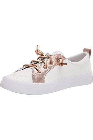 Sperry Damen Crest Vibe Sneaker, Weiße Rosen-Schlange