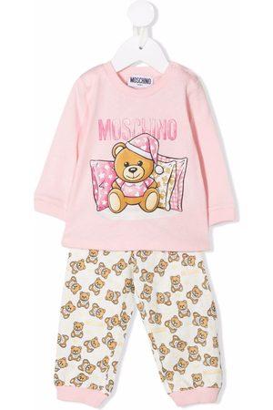 Moschino Kids Teddy bear-print cotton trouser set