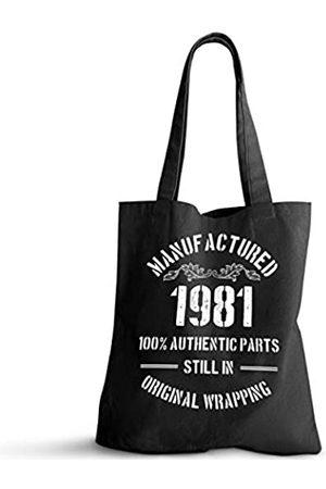ForbiddenPaper 1981 Geburtstagsgeschenke für Damen und Herren | Lustiges Geschenk zum 40. Geburtstag Vintage 1981 Natürliche Baumwolle Wiederverwendbare Tragetasche Classic 1981