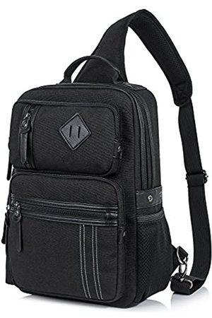 H HIKKER-LINK Canvas Messenger Bag für Herren Laptop Sling Rucksack Crossbody Schulter Reise Rucksack - HL0044
