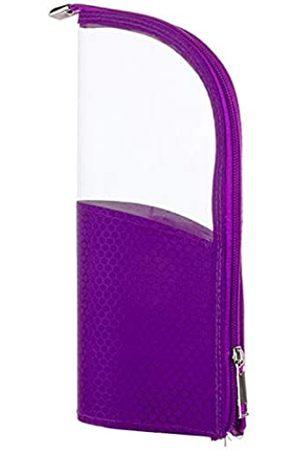 YOSENG Kosmetiktasche für Make-up-Pinsel, Reisetasche, Stifteetui für den Schreibtisch, transparenter Kunststoff, mit Reißverschluss, tragbar, wasserdicht, staubfrei, aufstellbar