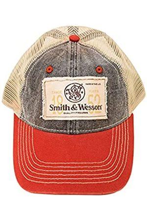 Smith & Wesson Offiziell lizenzierte Kappe Baseballmütze mit Logo One Size Rot Blau