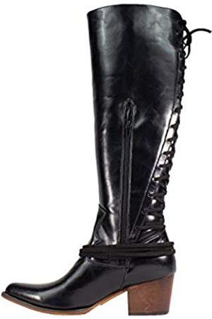 ARIDER Girl Haley Whiskey Westernstiefel, kniehoch, spitzer Zehenbereich, Schnürung auf der Rückseite, Reißverschluss