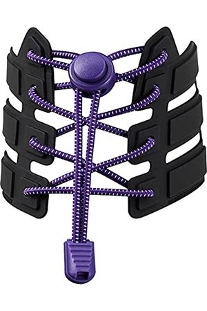JHB Elastic No Tie Shoelaces for Kid Adults Tieless Sneakers Shoe Laces Sport Simple Spring Lock Lazy Round Stretch Latex Shoelaces for Boy Girl Women Men and Seniors,Each/48 Inch