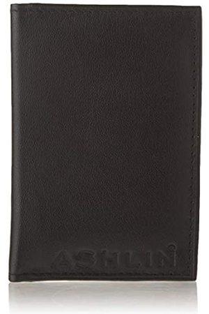 ASHLIN Doppelter Ausweishalter aus echtem Leder Drivers License 7503-07-01 MetroPass Mini-Geldbörse