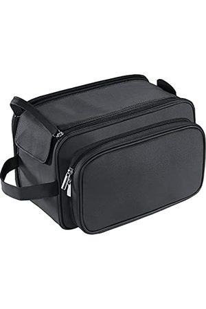 Buruis Große Kulturtasche für Herren, PU-Leder, Reise-Kulturbeutel, wasserdicht, Rasiertasche für Toilettenartikel, Zubehör, Toilettenartikel, Organizer