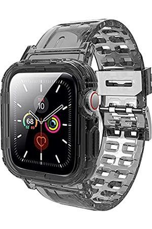 V/A JXVM Armband für Apple Watch 44 mm 42 mm, kristallklar, sportlich, Schutzhülle mit hochwertigem