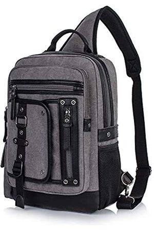 H HIKKER-LINK Canvas Messenger Bag Retro Sling Rucksack Crossbody Satchel