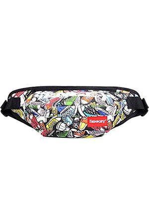 SOPHICATE Hüfttasche für Herren, modische Hip-Hop-Taschen, Gürteltasche mit verstellbarem Gürtel, 2-Wege-Schultertasche, Sport-Bauchtasche, Hüftsack, Reisen, Laufen, Festival, Wandern