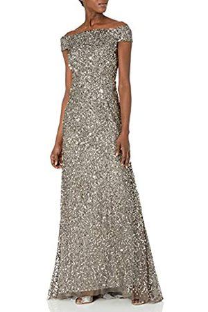 Adrianna Papell Damen Kleid mit knusprigen Perlen - Grau - 38
