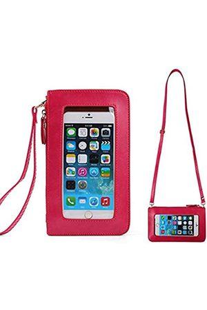 Vaytong Handy-Umhängetasche mit Touchscreen, transparentes Sichtfenster, Reise-Schultertasche, Handgelenk-Clutch