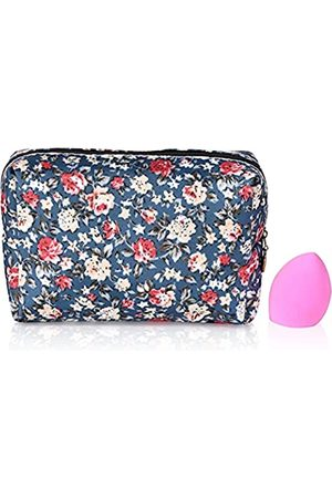 Nother KosmetiktaschefürDamengroßeKapazitätMake-up-TaschenwasserdichtReißverschlusstragbarmultifunktionalReise-AufbewahrungstascheClutch-Tasche(mitMake-up-SchwammimInneren)