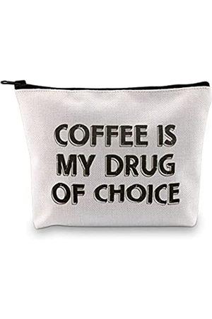 G2TUP Krankenschwestergeschenk Krankenschwestergeschenk Coffee Is My Drug Of Choice Kosmetiktasche und Reise-Make-up-Tasche mit Reißverschluss für Kaffeeliebhaber Geschenk