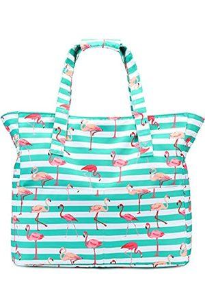 LEDAOU Große Strandtasche für Damen, wasserdicht, sanddicht, Reißverschluss, Strandtasche für Pool, Fitnessstudio, Lebensmittelreisen